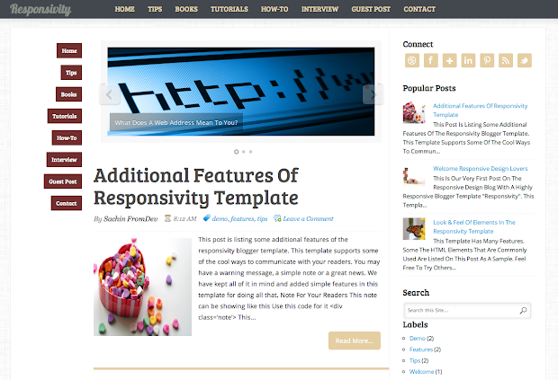 Responsivity - Blogger Template Live Demo