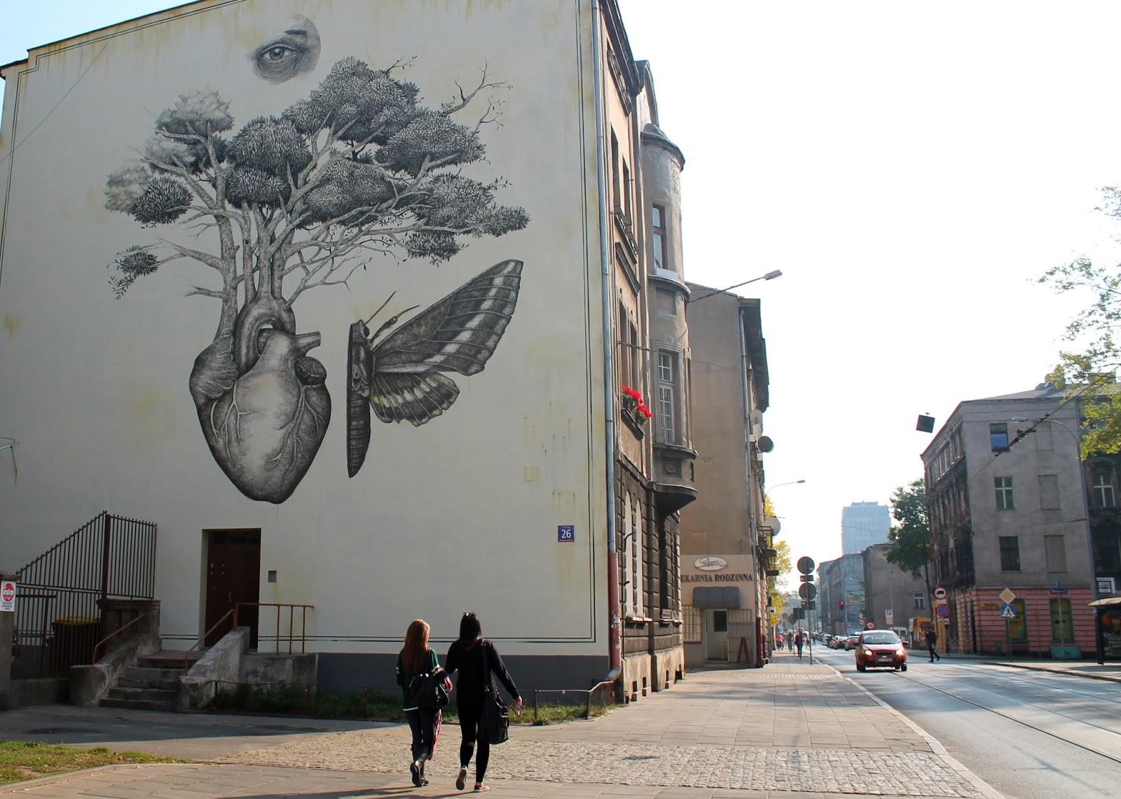 Baedeker Lodzki Alexis Diaz Mural Przy Ulicy Kilinskiego 26 W Lodzi