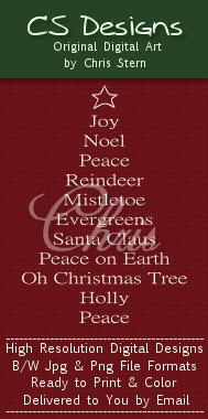 Text Christmas Tree Christmas Digital Stamp