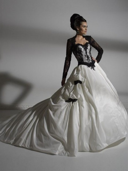 gothic clothing gothic wedding dresses in black and white