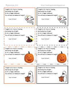 Free Halloween Homework Pass Printable Homework Passes Free