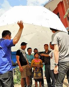 ドーム型 プラスチック 簡易 テント