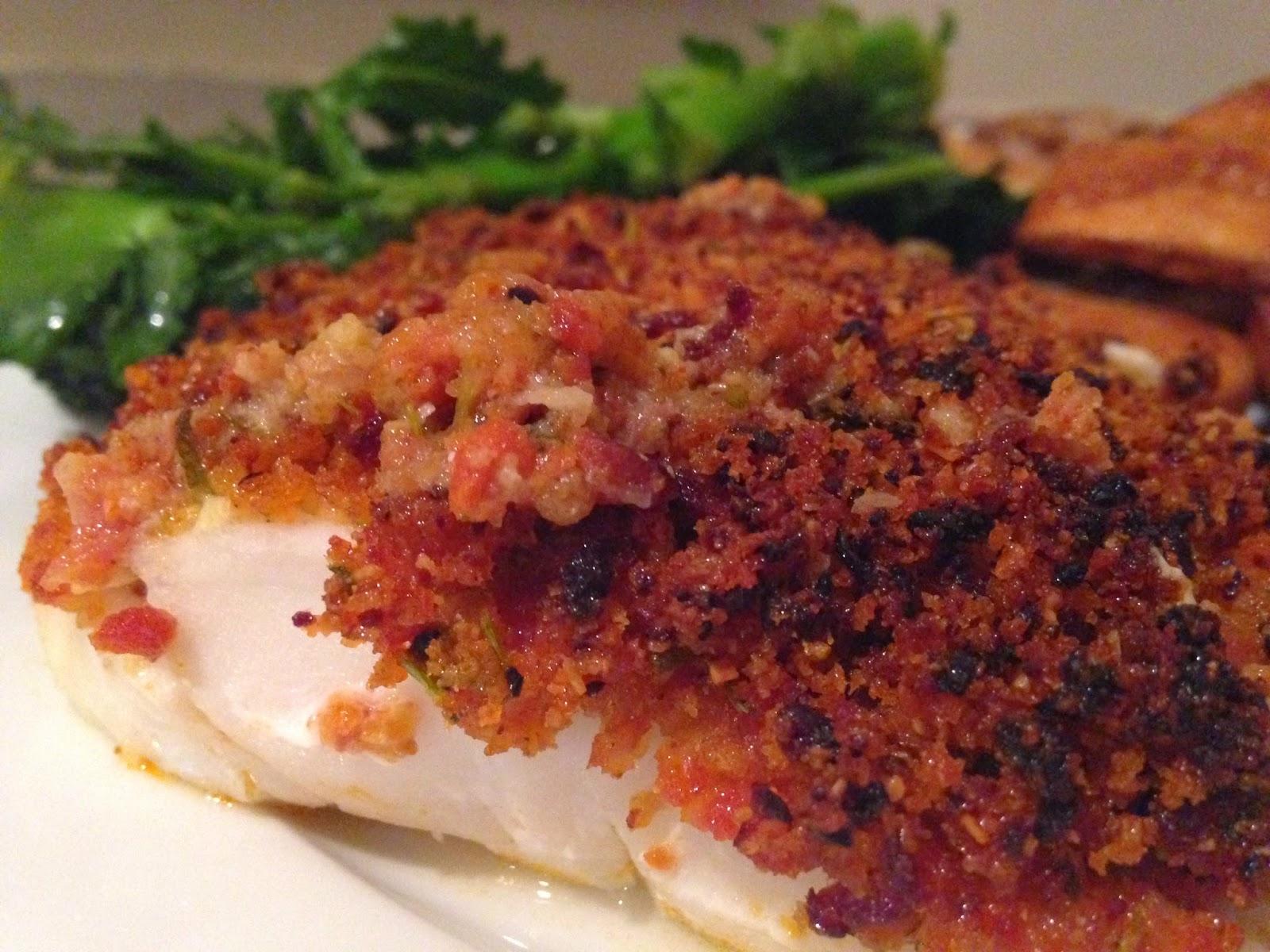 Chorizo Crusted Cod