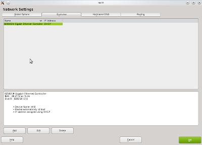 Edit konfigurasi jaringan