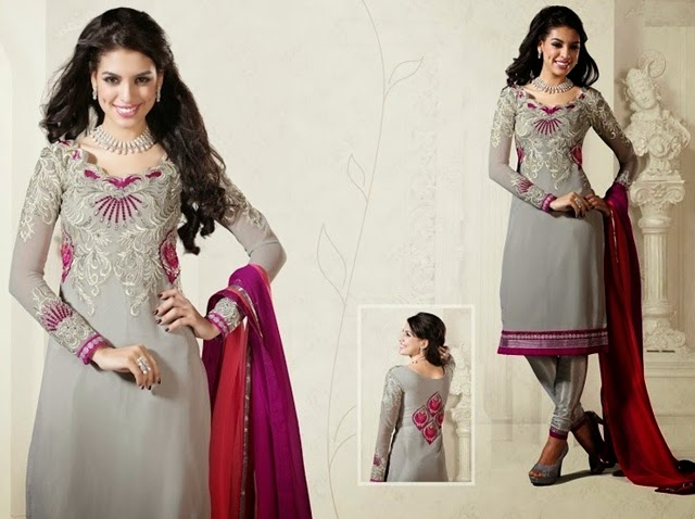 Heavy Embroidered Punjabi Churidar Suits