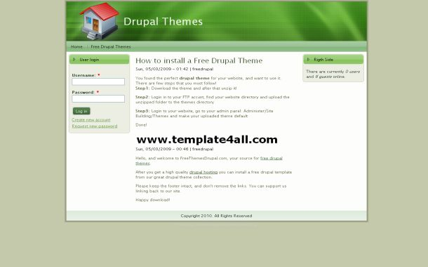 Free Green White Business Drupal Theme Template