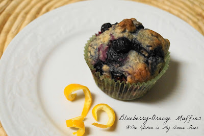 Blueberry Orange Muffins with Coconut Oil