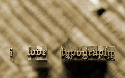 I love typography Embossed Text Print HD Desktop Wallpaper
