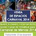 A la venta espacios comerciales para el carnaval