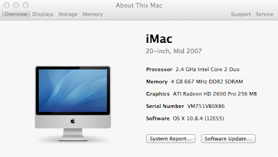Installing a SSD drive into a mid-2007 iMac