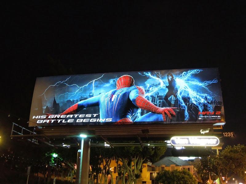 Amazing Spider-man 2 electroluminescent billboard Sunset Strip