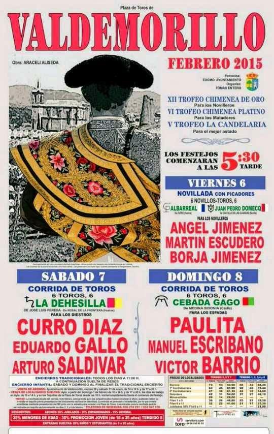 Valdemorillo 7 Febrero 2015  Curro Díaz, Eduardo Gallo y Arturo Saldívar (José Luis Pereda y La Dehesilla) Digitalizado gracias a PEDRO PEREZ