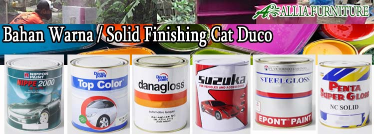 Bahan Warna Finishing Furniture Cat Duco