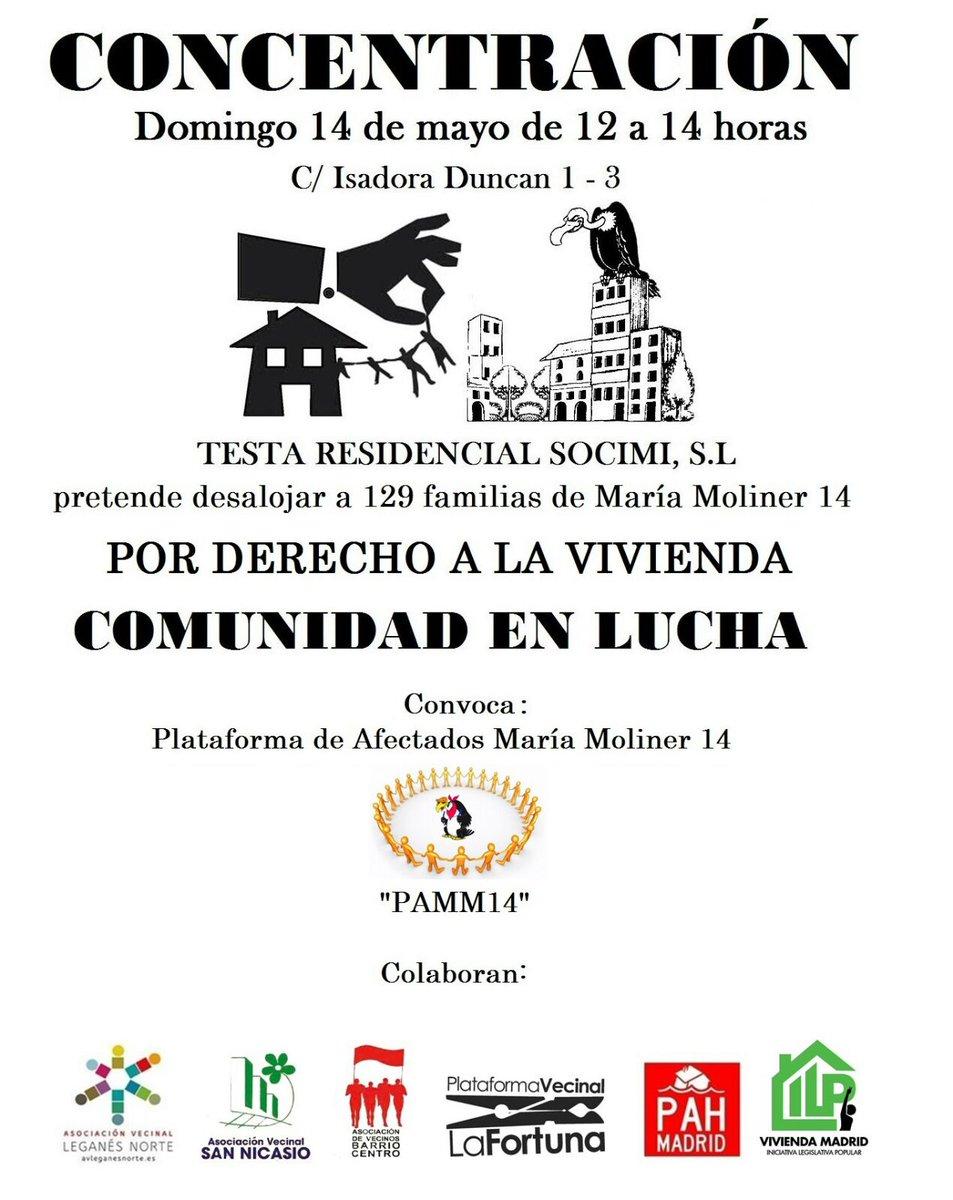 14 de mayo Concentración Por el Derecho a la Vivienda