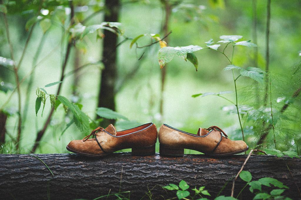 Bröllopsdetaljer skor räv