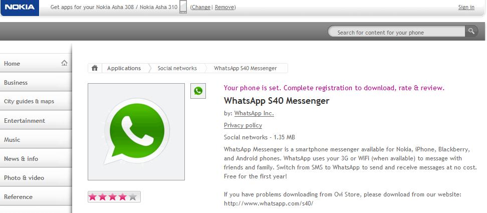 can Download through Nokia Store through your Nokia Asha 308 phone