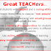 Characteristics of Great Teachers