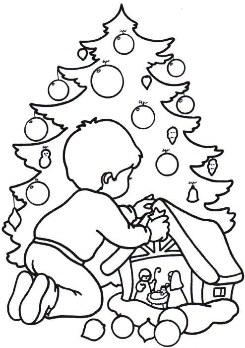 Desenhos Preto e Branco Simbolos de natal  para copiar Colorir
