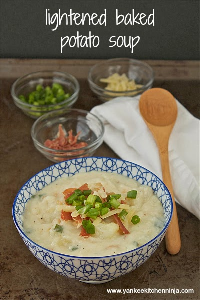 lightened baked potato soup