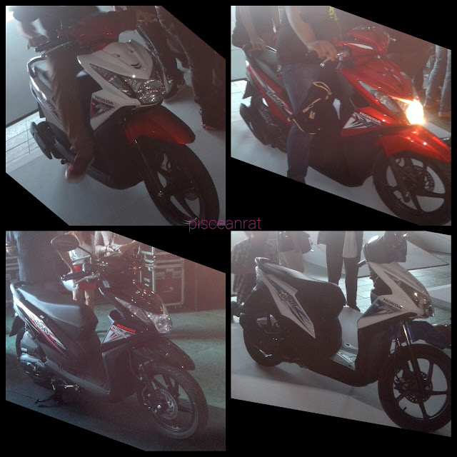 Honda BeAT-FI eSP Colors, Black, Candy Scarlet Red, Ross WHite/Red and Ross White/Blue.