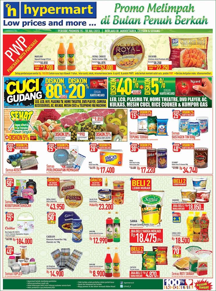 Hypermart Weekday Promo Terbaru Periode 15 – 18 Juli 2013