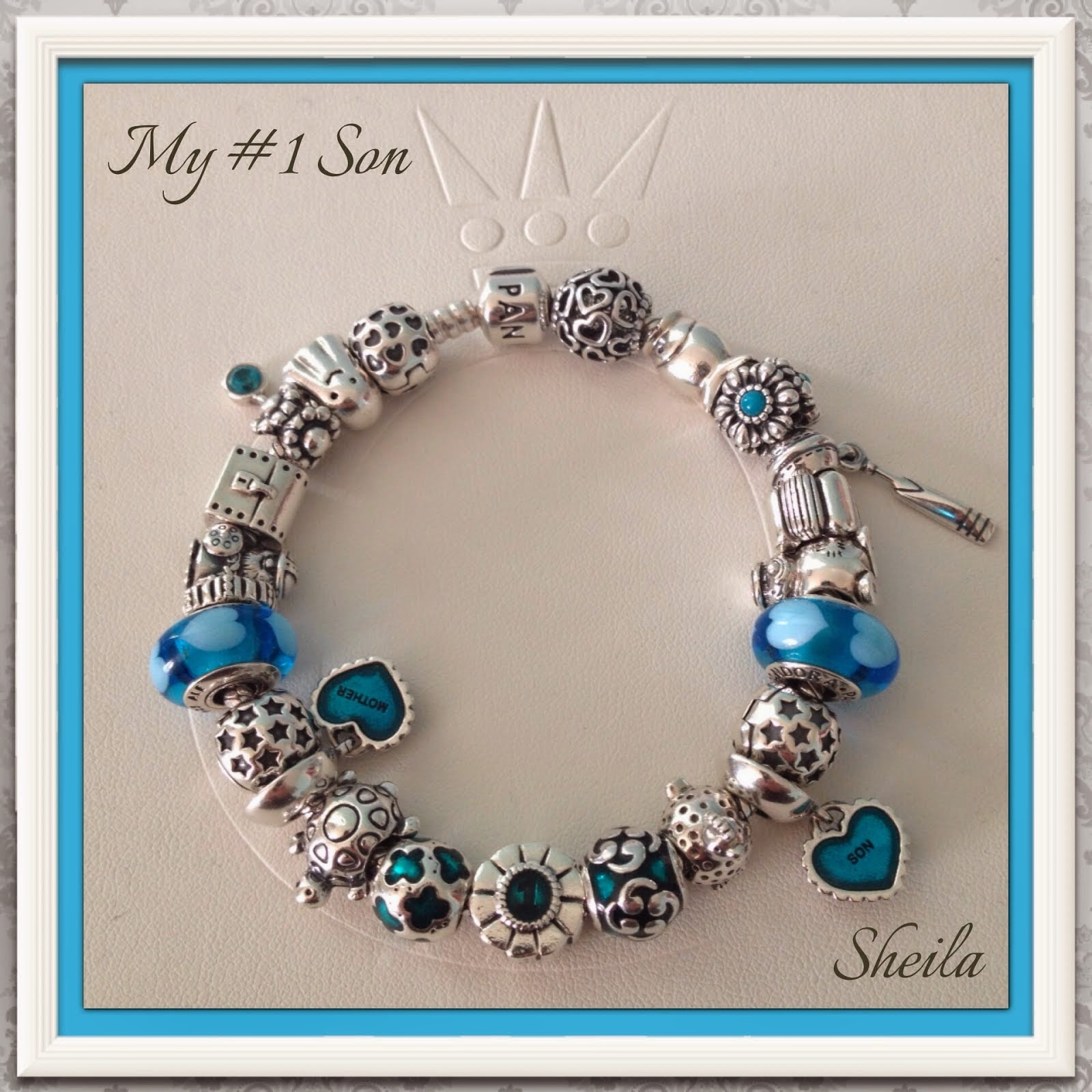 and charms bracelet blue pin pandora bangle with bangles brighton
