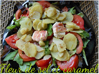 Salade de pommes de terre au chèvre chaud