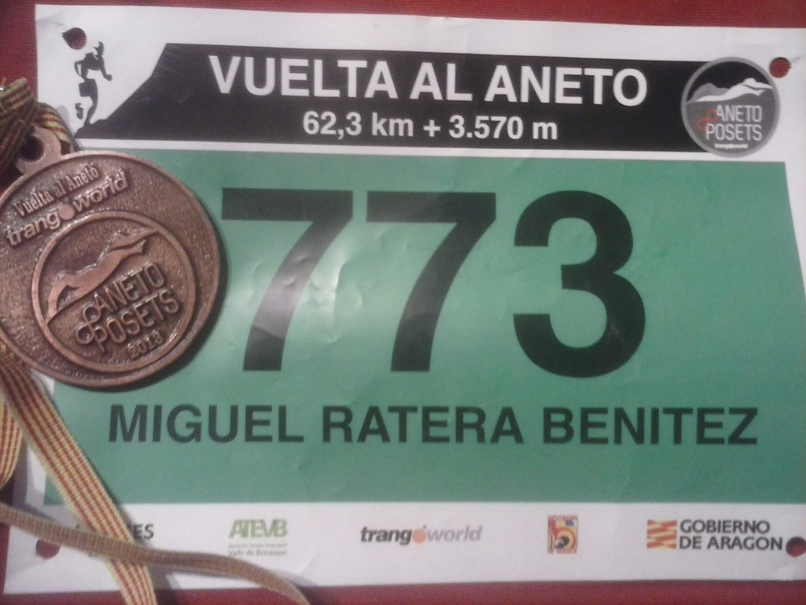 Dorsal y Medalla de FINISHER
