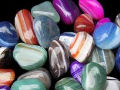 Tumbled stones, agate, tumblestone meanings, A-Z tumbled stone, healing properties of tumbled stones, magickal healing properties of tumbled stones, Dyed agate