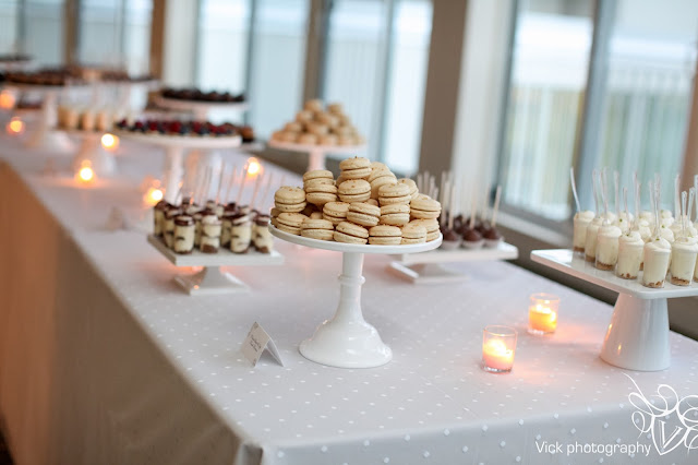 French Macarons on Mini Dessert Table