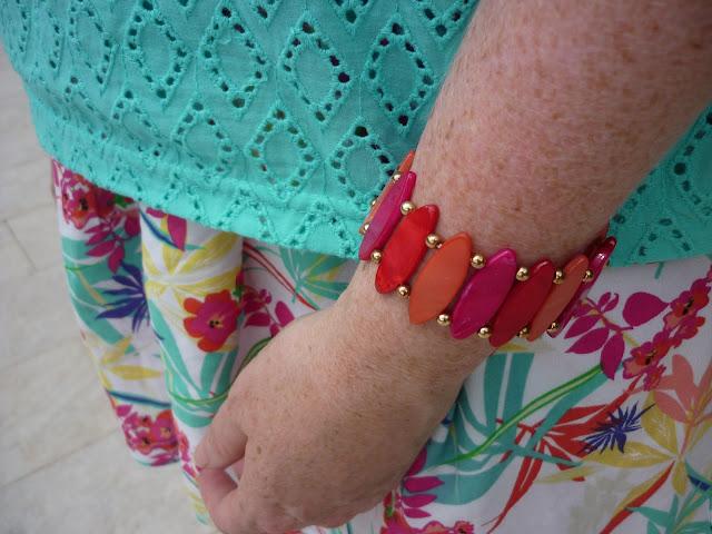 Hot Pink, Red & Coral Bracelet | Petite Silver Vixen