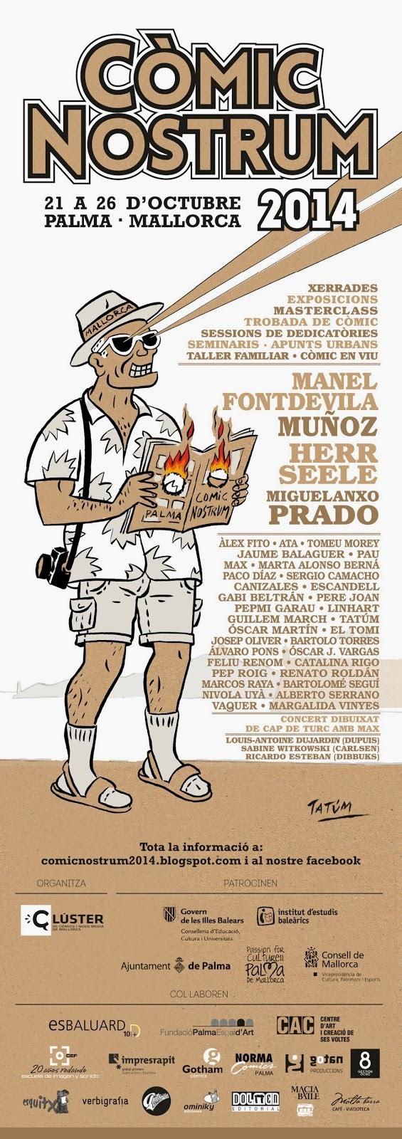 Comic Nostrum 21-26 de octubre Palma de Mallorca 2014. arte ilustración masterclass