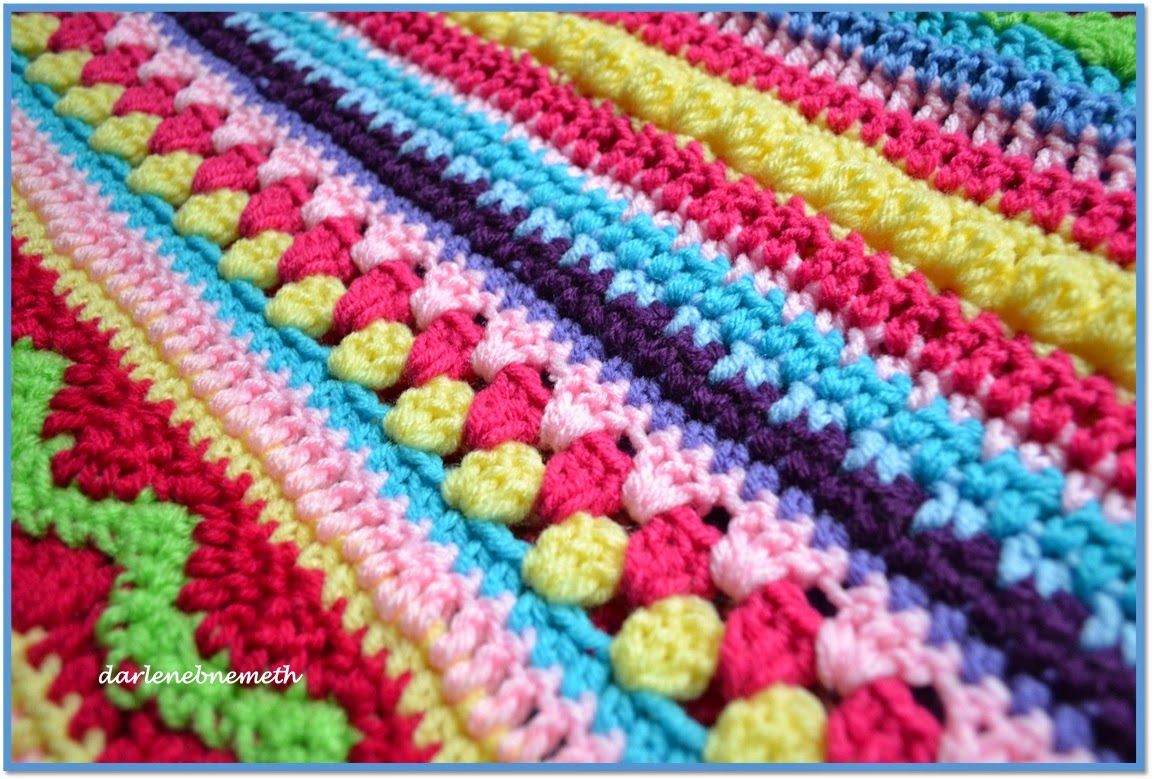really like the crocheted puff stitch. You can see it in the picture ...