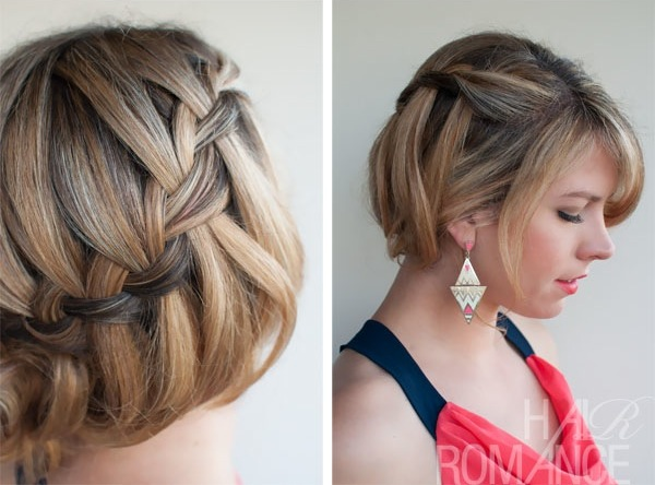 Oh the lovely things diy waterfall braided bun by hair romance what do you think will you give this hairstyle a try i love how versatile it is how it works equally well for parties and the everyday solutioingenieria Choice Image