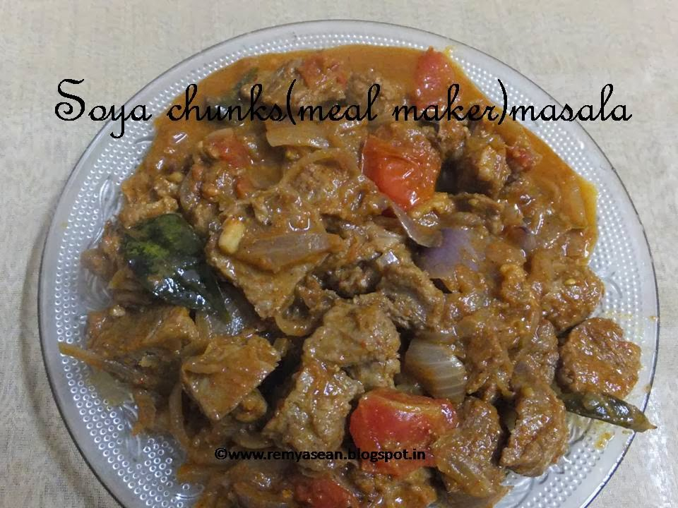 Soya chunks(meal maker)masala