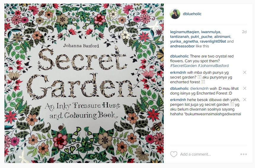 Akhir Bulan Lalu Buku Yang Saya Tunggu Akhirnya Datang Apakah Ituuu Nih Mewarnai Judulnya Secret Garden Karya Johanna Basford