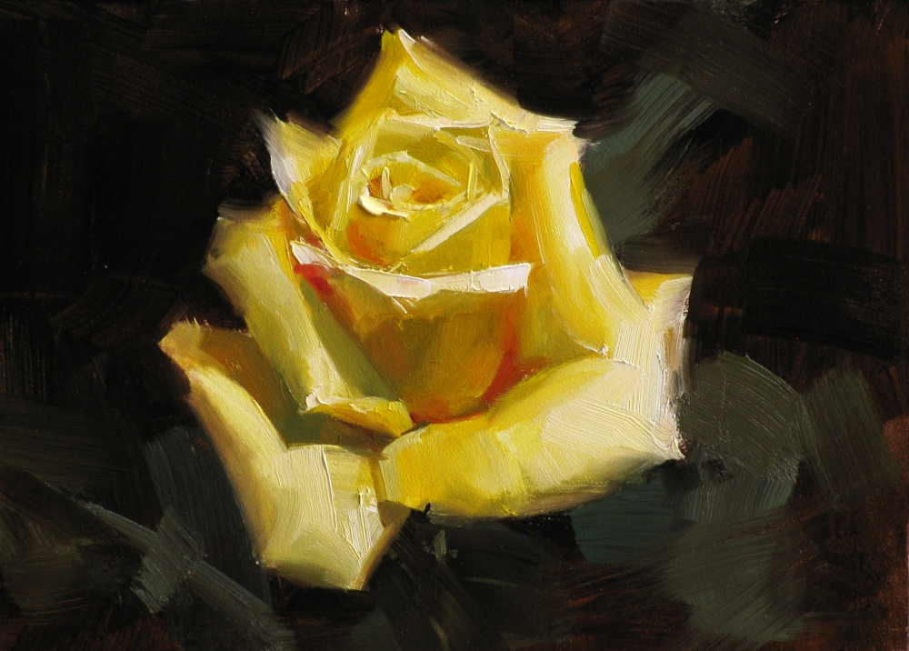 Qiang huang a daily painter texas yellow rose texas yellow rose mightylinksfo