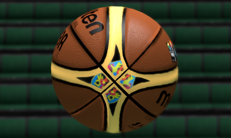 NBA 2K14 FIBA 2014 Spain Molten Ball Mod