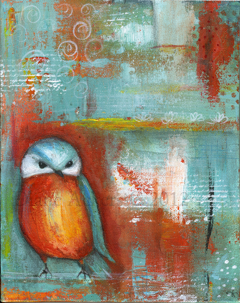 Bird paintings abstract - photo#17