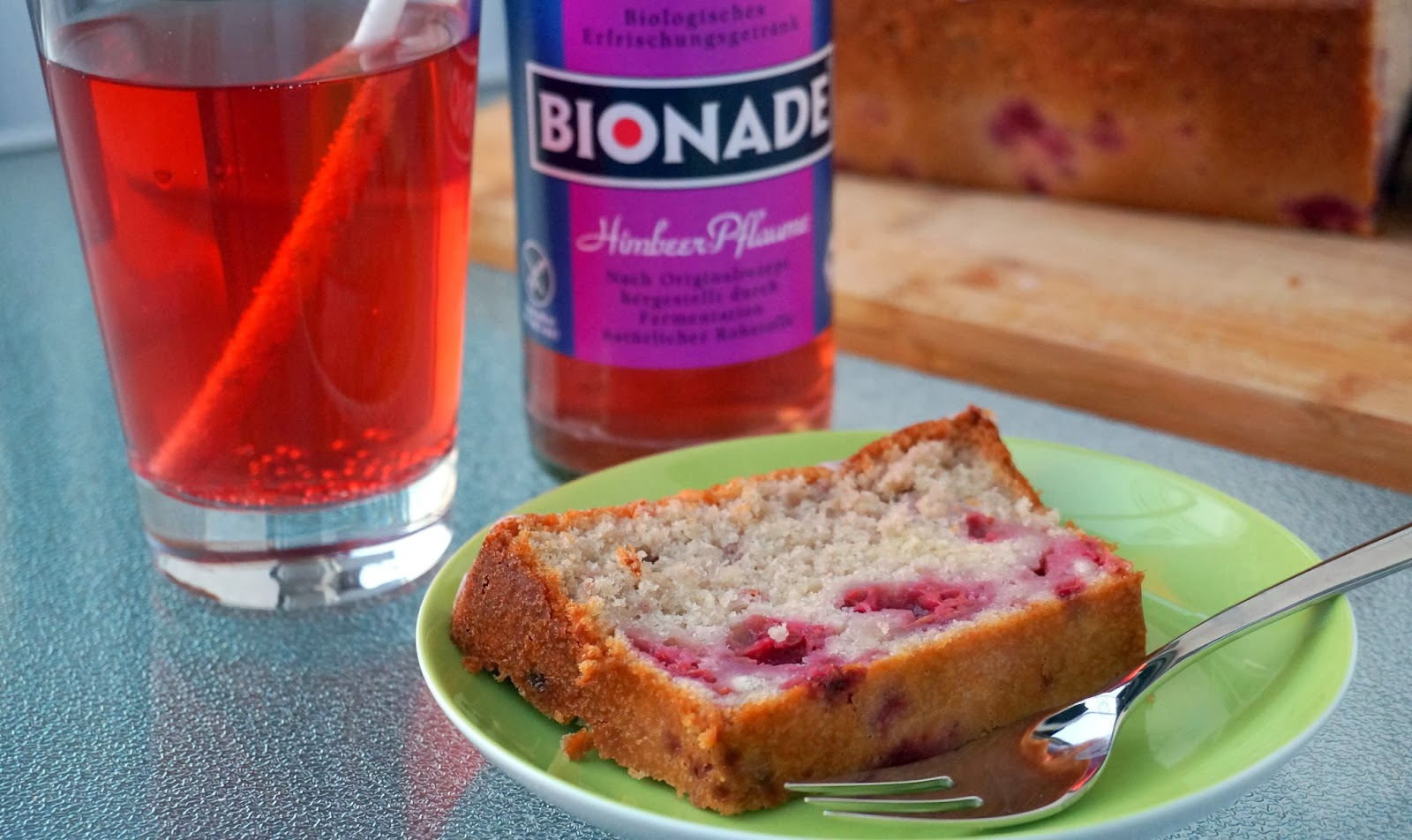 Bionade, Bionadekuchen, Sommerkuchen, Himbeerkuchen, Frühlingskuchen, Bionade neue Sorte