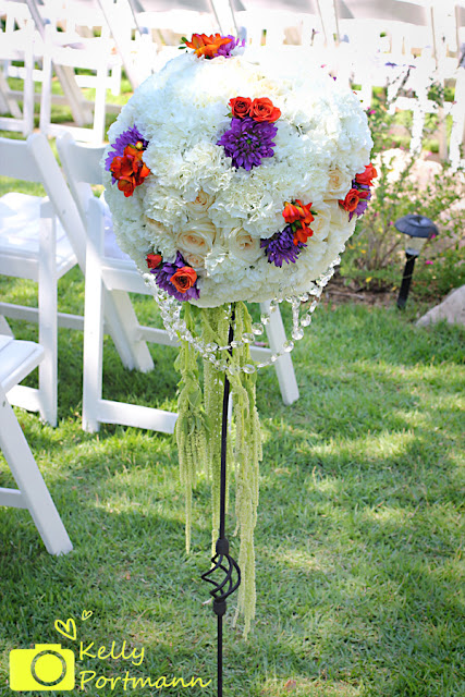 San Antonio Wedding Photographer, Wedding flowers, Pomanders, outdoor weddings