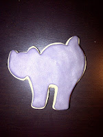 Cat sugar cookie with fondant