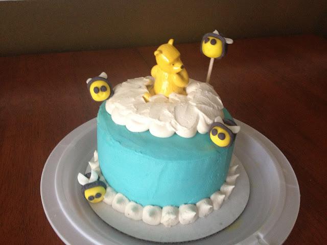 Classic Winnie The Pooh Birthday Sheet Cake