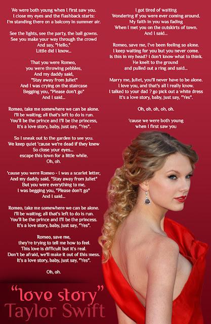 romeo and juliet song taylor swift lyrics