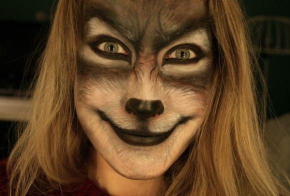 Sandra Holmbom auto-maquiagens criativas e bizarras Loba