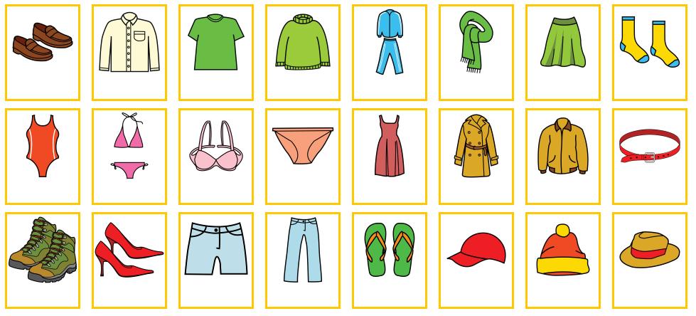 Prendas de vestir en ingles y español - Imagui