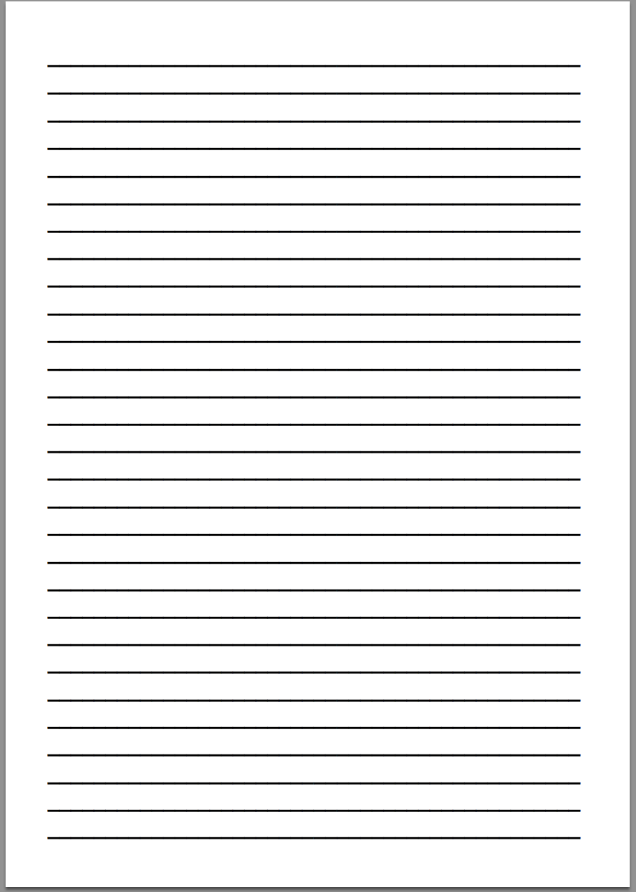 Printable Lined Writing Paper Template  Lined Paper With Drawing Box