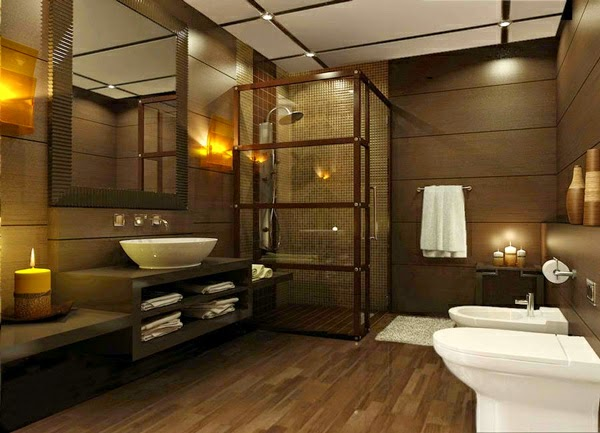 Baños Modernos Beige:Baños modernos color marrón – Colores en Casa