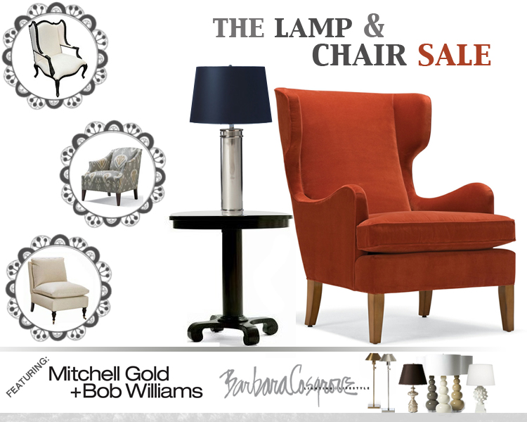 The Lamp & Chair Sale!