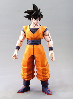 Dragon Ball Z, Goku Papercraft Model